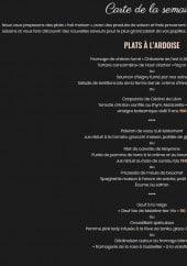 Menu La Toque Blanche - plats