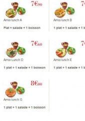 Menu Amoi Sushi - Les salades
