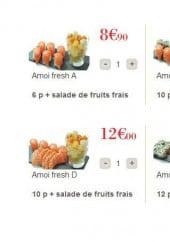 Menu Amoi Sushi - les salades de fruit