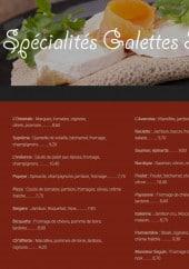 Menu Beaurepaire I - Les spécialités galettes sarasins
