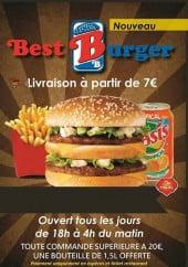Menu Best Burger - Carte et menu Best Burger, Lille
