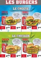 Menu Bodrum - Les burgers