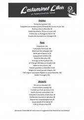 Menu L' Estaminet Lillois - Les entrées, plats et desserts