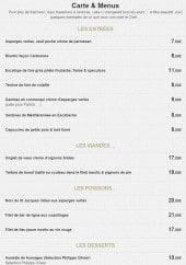 Menu La Royale - Les entrées, plats et desserts