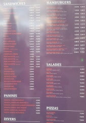Menu Le Bon Snack - Sandwiches, salades, pizzas,.....