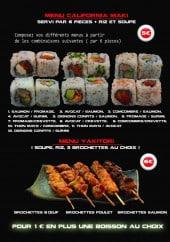 Menu Lil'Sushi - Les menus