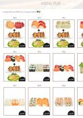 Menu Toyotomi - Les menus plats M 9 à M 20
