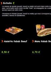 Menu Unik kebab - Les kebabs
