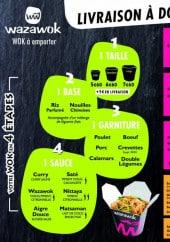 Menu Wazawok - Les menus