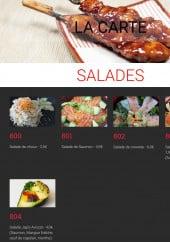 Menu Japsfood - Les salades