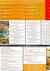 Menu Le Set de table - Les plats à emporter: les pizzas, les snacks ...