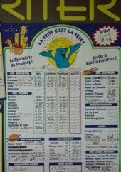 Menu Friterie de l'Escrebieux - Brochettes, viandes, hamburgers,...