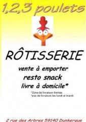 Menu 1,2,3 Poulets - Carte et menu 1,2,3 Poulets Dunkerque