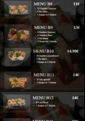 Menu He's Sushi - Les menus: B8, B9...