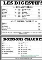 Menu L' ecume - Les digestifs et boissons chaudes