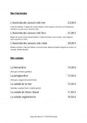 Menu L'Hacienda Des Saveur - Haciendas et salades