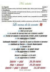 Menu La cocotte - Les salades, menus,...