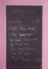Menu Miss Audrey's Cupcakes - Les boissons, cupcakes