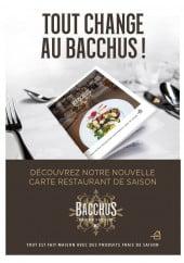 Menu Bacchus - Carte et menu Bacchus  Croix
