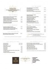 Menu Bacchus - Les entrées, salades, végétariens,...