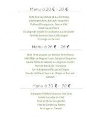 Menu Le Prévert - Les menus