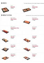 Menu Sushi boutik - Les bentos et menus plateaux