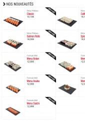 Menu Sushi boutik - Les nouveaux menus