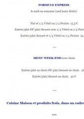 Menu La table de romain - Les formules express et menus week-end