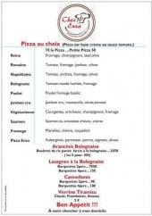 Menu Chez Enza - Pizzas