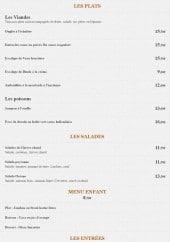 Menu Chez Régis - Les plats, salades, menu enfant...