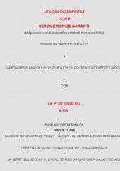 Menu Les Loulou's - Les menus