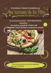 Menu Aux saveurs de la pâte - Carte et menu Aux saveurs de la pâte Wasquehal