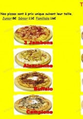 Menu Chrono Pizza - les pizzas
