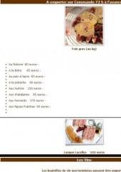 Menu La Maison - Les plats à emporter et vins