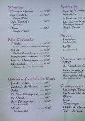 Menu La Meïda - Les whiskies, les cocktails,.....
