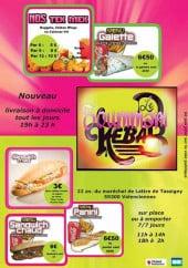 Menu Le Soummam Kebab - Carte et menu Le Soummam Kebab  Valenciennes