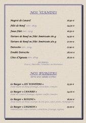 Menu Les Wantiers - Les viandes et burgers