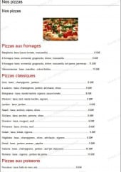 Menu Pizza Toto - Les Pizzas