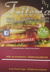 Menu Friteria de la Gare - Carte et menu Friteria de la Gare Hautmont