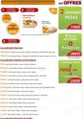 Menu Ô Quatre Saisons - Les Pizzas