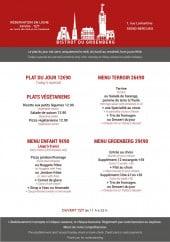 Menu Bistrot du Groenberg - Plats et menus