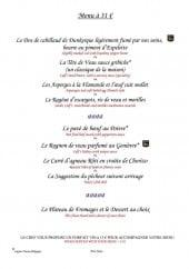 Menu Au Pont Tournant - Le menu à 31€