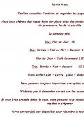 Menu Le Jolly Sailor - Les formules midis à 12€, 13€, 15,5€ et 9€