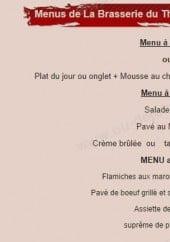 Menu Le Café du Théâtre - Les menus