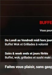 Menu wok up - Les menus