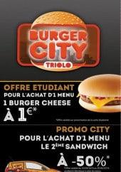Menu Burger city - Les offres