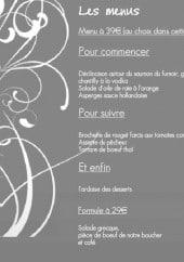 Menu Carte Blanche - Les menus