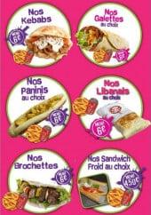 Menu Forum de  l etudiant - Les kebab, galettes,....