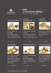 Menu My Thaï - Plateaux repas