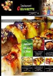 Menu O'brochette - Le menu chinois